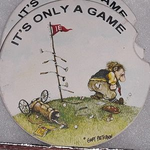 Car coasters golf themed (2) - NWOT